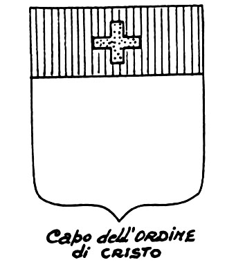 Image of the heraldic term: Capo dell'Ordine di Cristo
