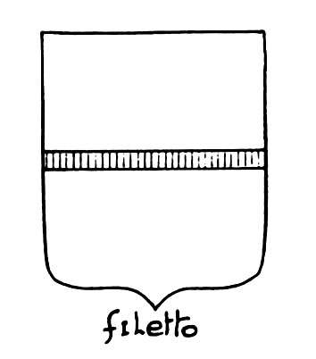 Image of the heraldic term: Filetto