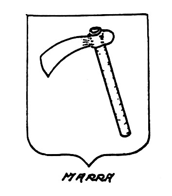 Image of the heraldic term: Marra