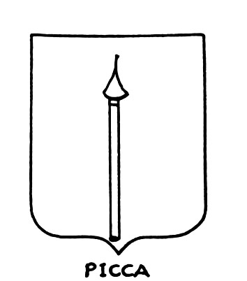 Image of the heraldic term: Picca