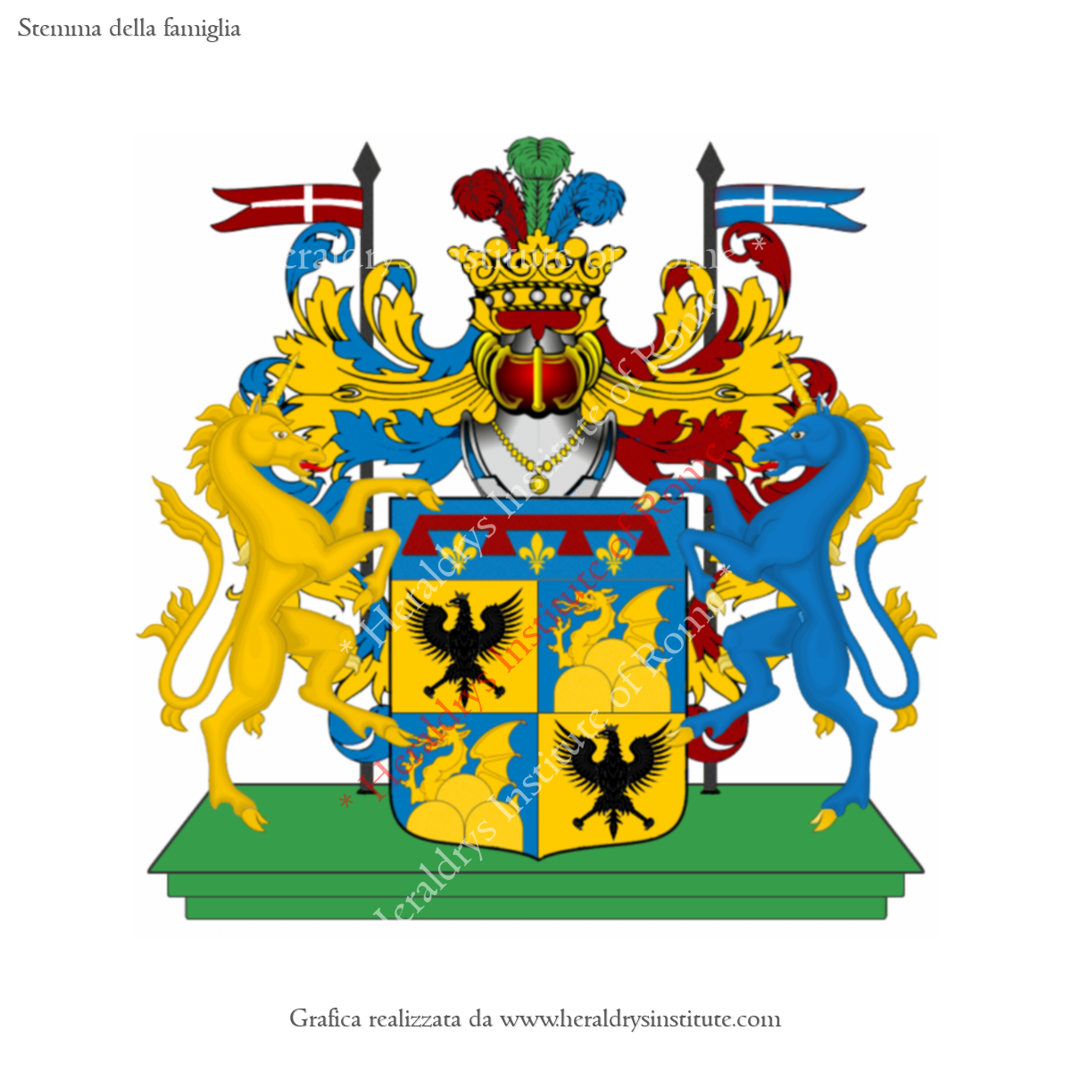 Coat of arms of family Serraino