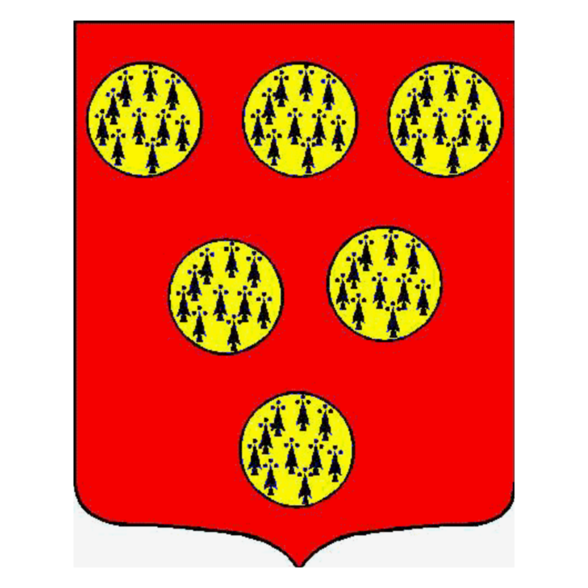 Coat of arms of family Lesure