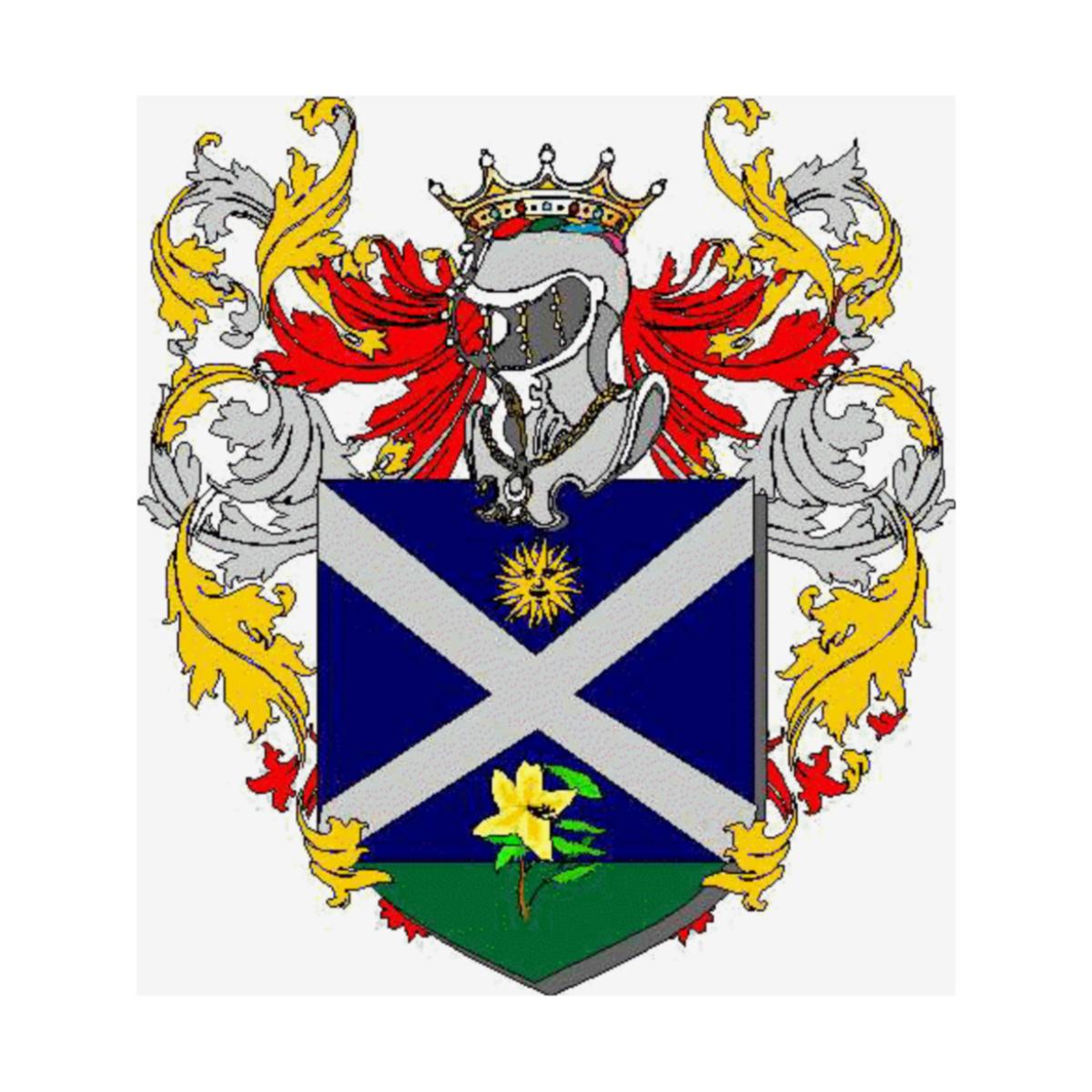 Mistruzzi Di Frisinga Coat of arms, Last name Origin, Herald