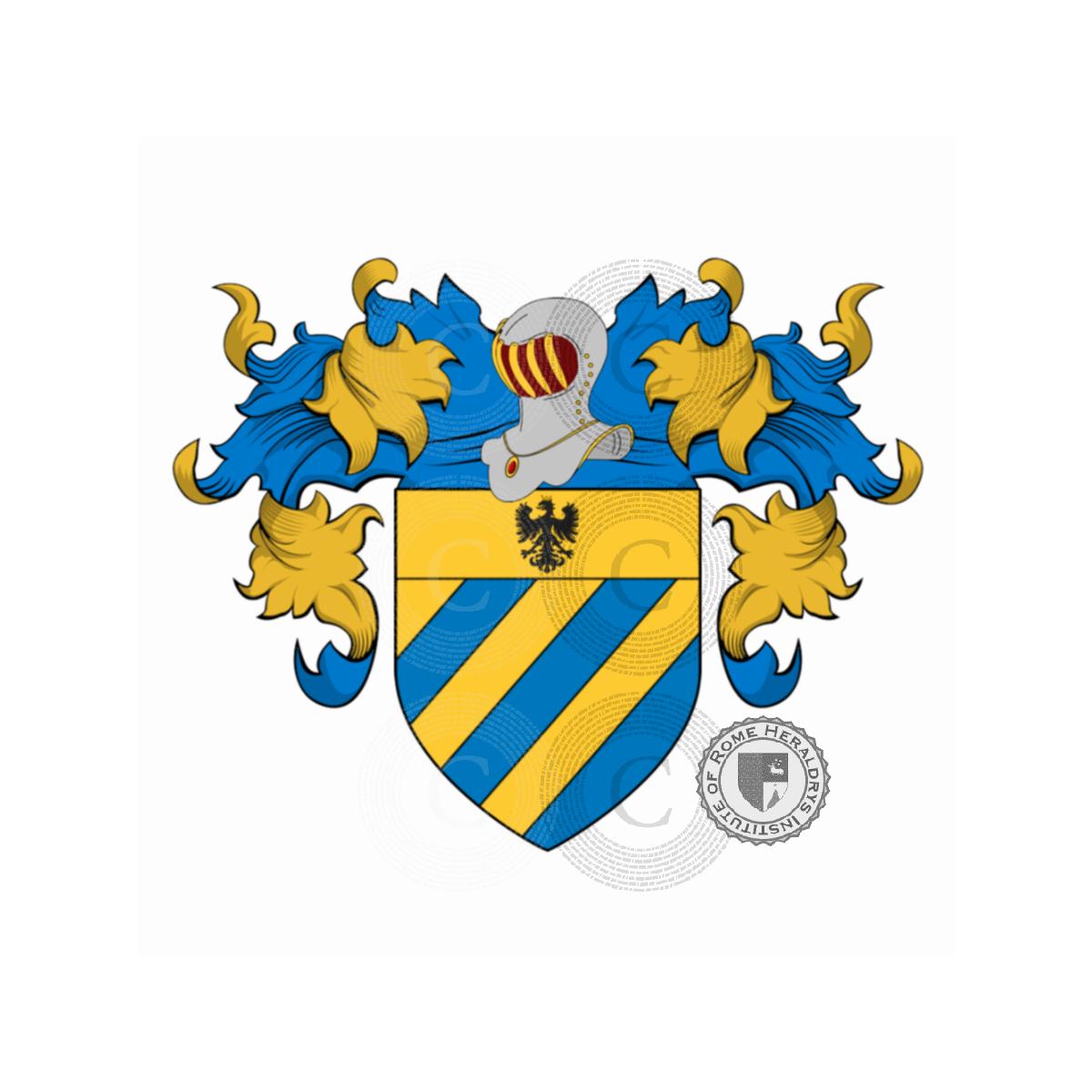 Mantegazza Escudo de armas, Origen Apellido, Heráldica, gen