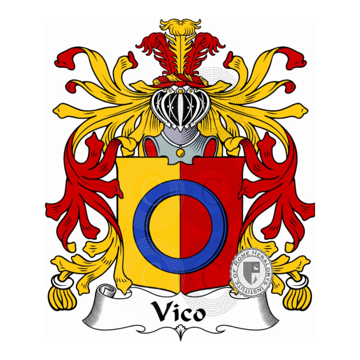 Notaio Pavia: Famiglia Vico Araldica, Genealogia, Stemma E Origine Del