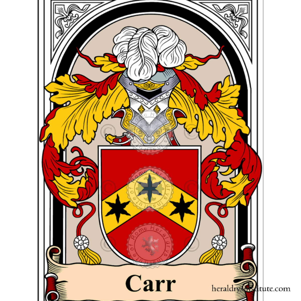 Carr family, heraldry, genealogy, Coat of arms and last name