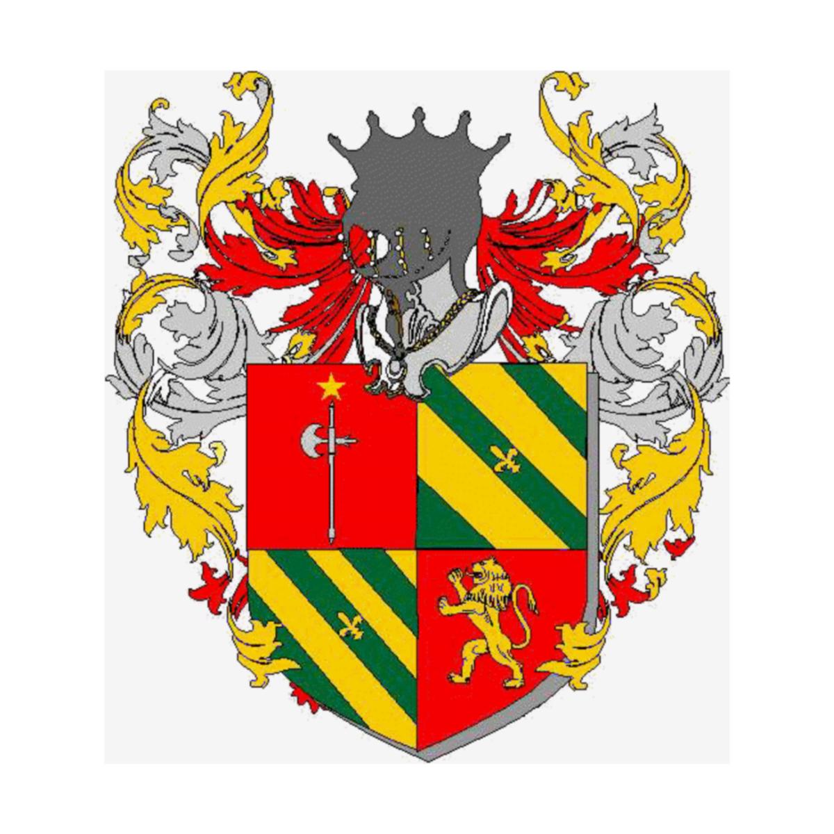Segrè Sartorio Escudo de armas, Origen Apellido, Heráldica