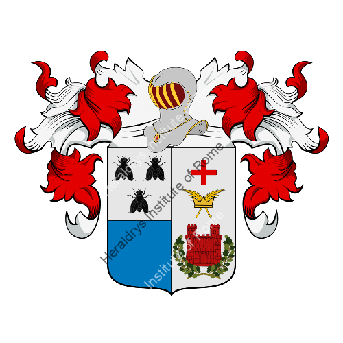 Coat of Arms of family Moscheni, Moschini, Moschin