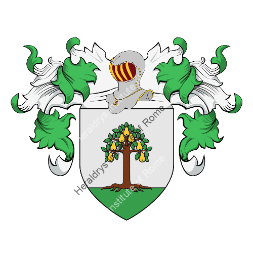 Coat of Arms of family Piraneo