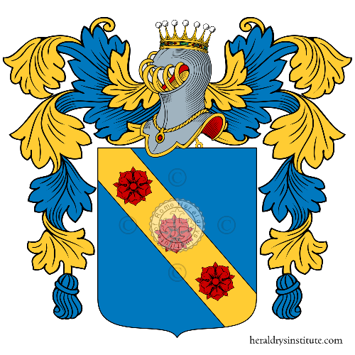 Coat of arms of family la Rosa