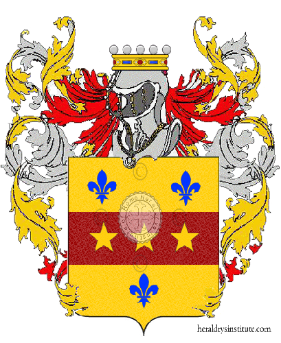 Coat of Arms of family Santisa