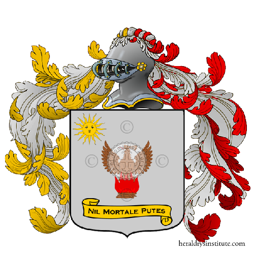 Coat of Arms of family Carletti o Carletto (Arcevia, Ancona, Sassoferrato)