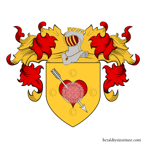 Coat of Arms of family Amore o Amori
