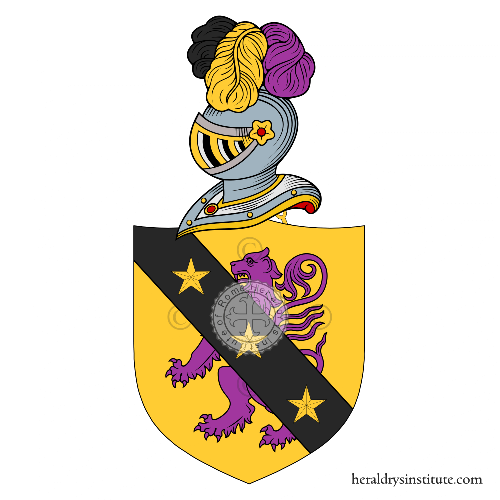 Coat of arms of family Azzetti