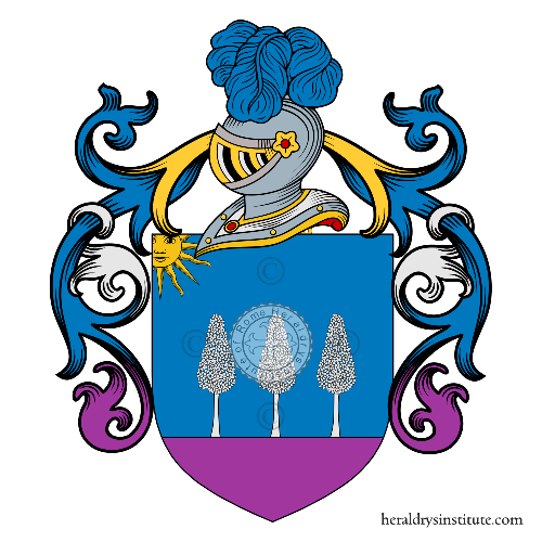 Coat of arms of family d'Alterio