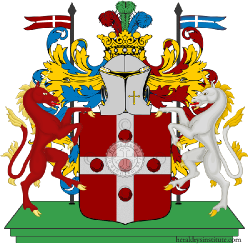 Coat of arms of family Ortensi