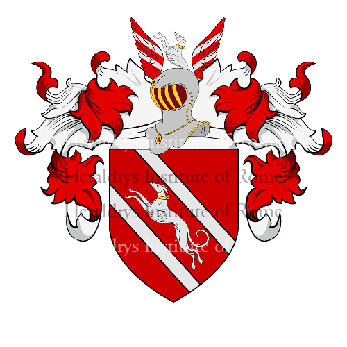 Coat of Arms of family Zini, De Zinis, Dezini