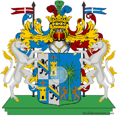 Coat of arms of family Lunghi Palmieri Brancatella