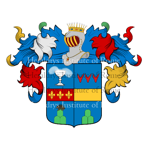 Coat of Arms of family Tomassini Barbarossa