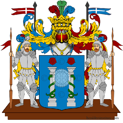 Coat of arms of family Cazzato