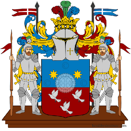 Coat of arms of family Iuni English