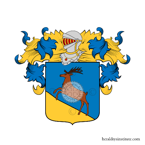 Coat of Arms of family Cervetto (Spanish)