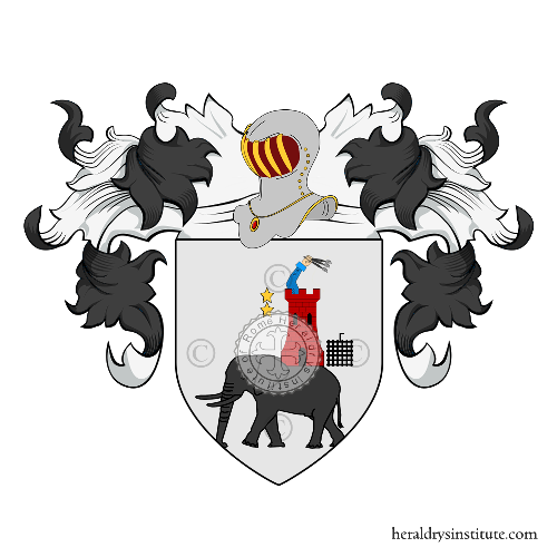 Coat of Arms of family Aresu o Areso