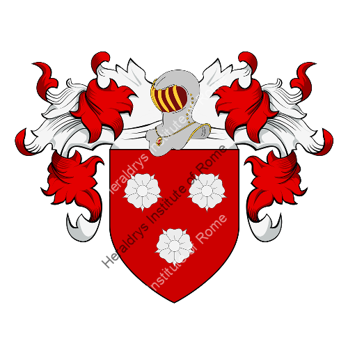 Coat of Arms of family Rozée or Roze