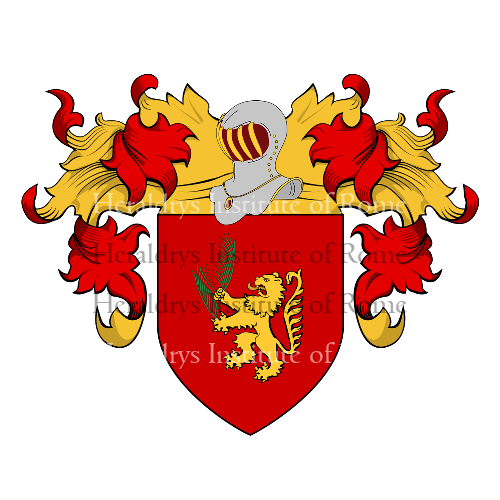 Coat of Arms of family Palmaro o Palmari