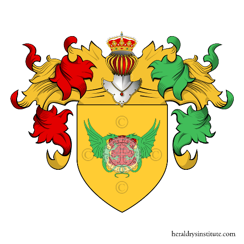 Coat of Arms of family Pozzo (del) (Messina - Palermo)
