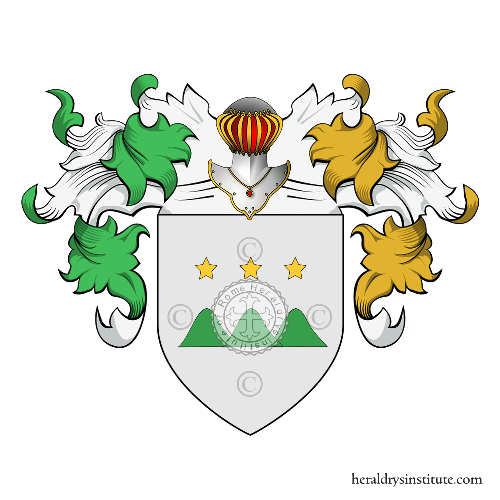 Coat of Arms of family Monticelli o Monteslini (Crema)