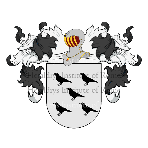 Coat of Arms of family Cuervo