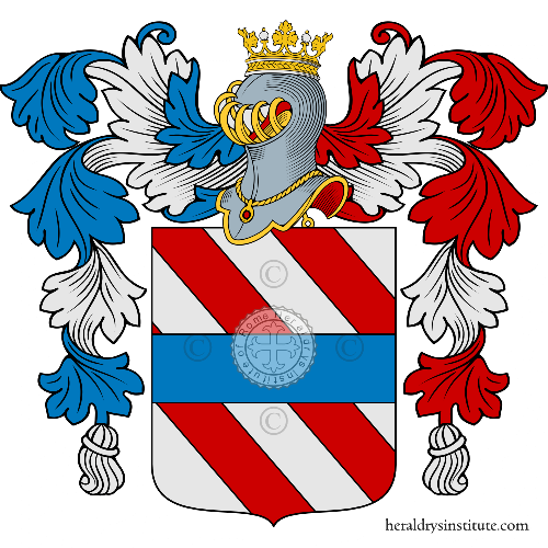 Coat of arms of family Santacroce