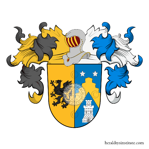 Coat of Arms of family Jomini, Jommin, Jommi, Iommi