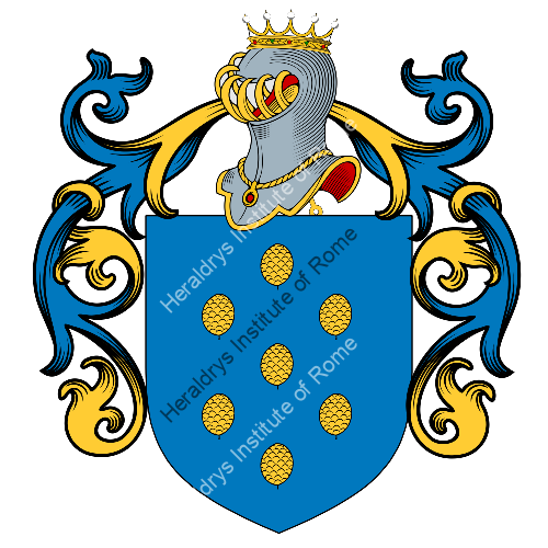 Coat of Arms of family Pinelli o Pinella (Ovada)