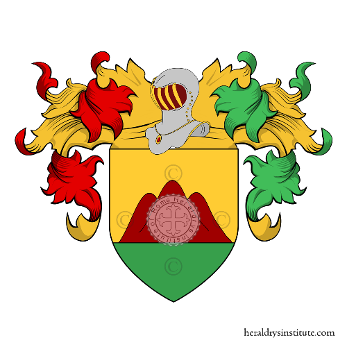 Coat of Arms of family Vincenzo (di o de)