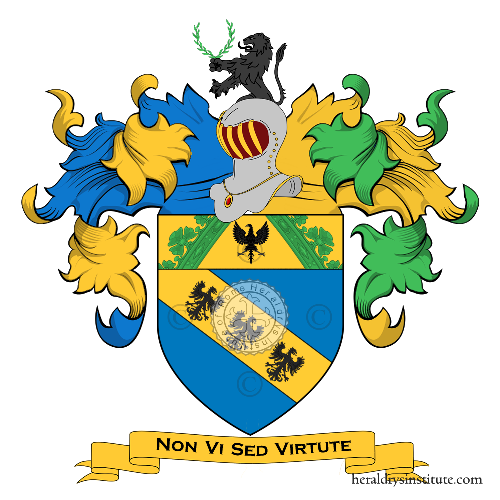 Coat of Arms of family Santi (Alessandria)