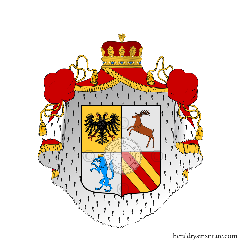 Coat of Arms of family Melo o Melo-Lupi (Padova)