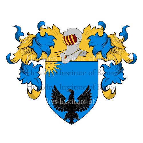 Coat of arms of family d'Amore o d'Amori (Vitulano nel Beneventano)