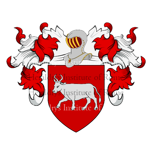 Coat of Arms of family Bove (Velletri)