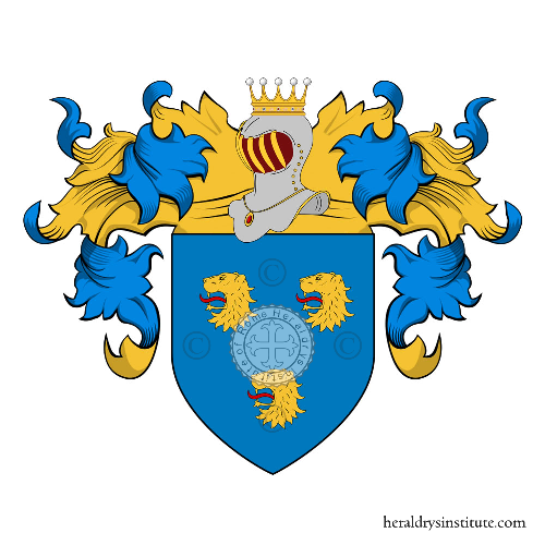 Coat of Arms of family Belisarii , Belosi, Belisario o Belizario