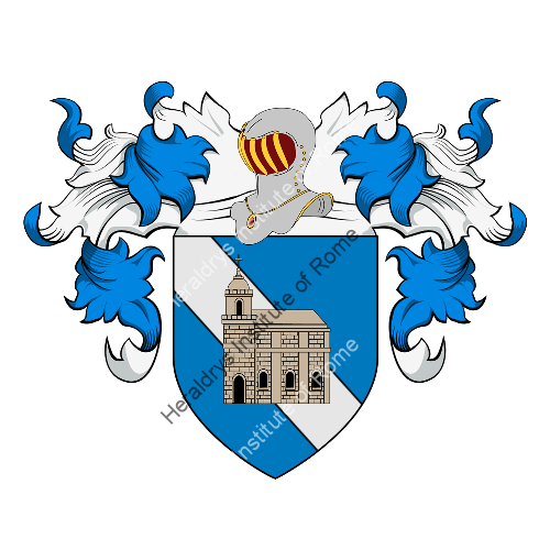 Coat of Arms of family Chiesa (Toscana)