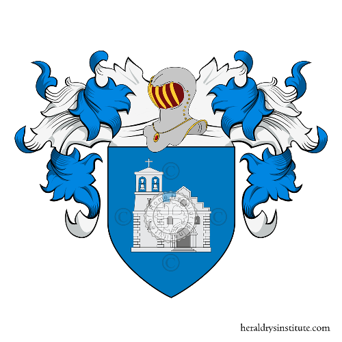 Coat of Arms of family Chiesa (Liguria)
