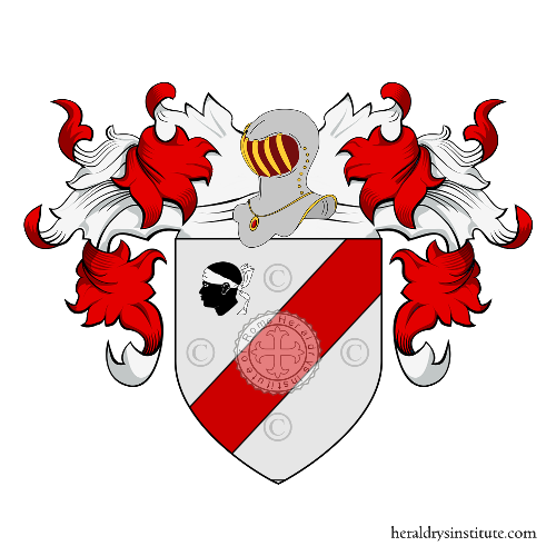 Coat of Arms of family Moretti (Milano)