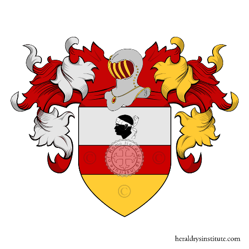 Coat of Arms of family Moretti (Pistoia)