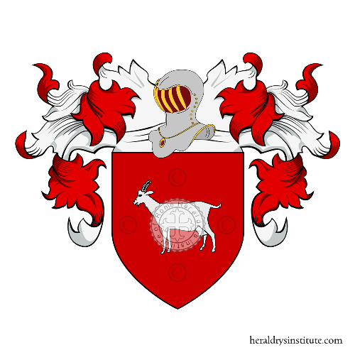 Coat of arms of family Capretti
