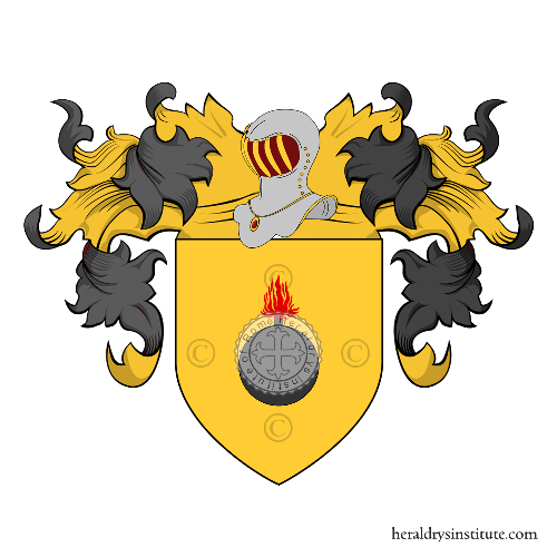 Coat of Arms of family Casillo o Casilli
