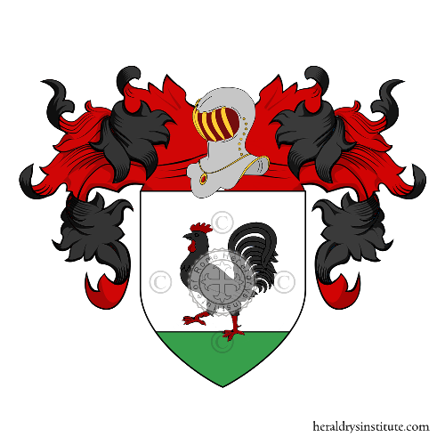Coat of Arms of family Galloni, Calloni
