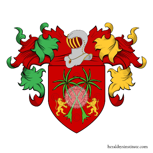 Coat of Arms of family Palmieri Lattanzi Tolomei