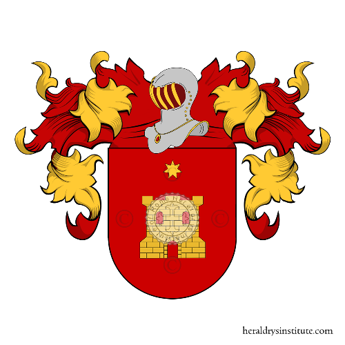 Coat of Arms of family Caciano